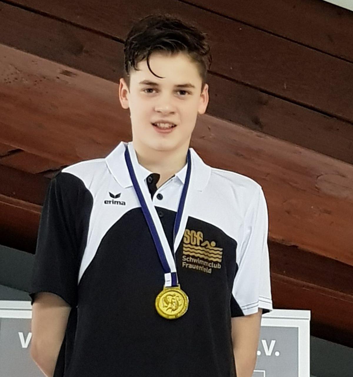 Lennox Rutishauser, Schwimmwettkampf Sindelginden 2018